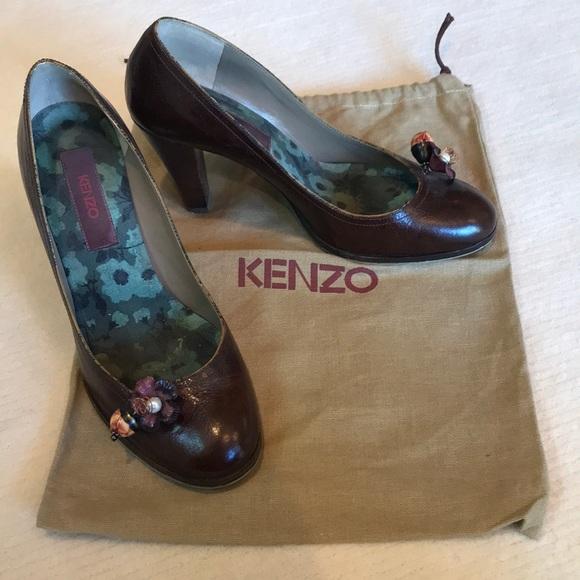Kenzo Brown Leather Heels